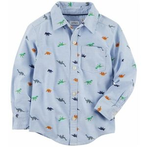 Carter's Dinosaur Oxford Button-Front Shirt